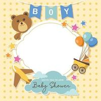 Lovely baby shower background with empty space vector