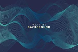 Wavy line background dynamic flow concept vector