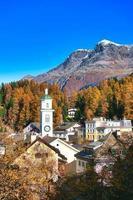 Sils Maria Village en el valle de Engadine, cerca de Sankt Moritz Sxizzera foto