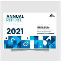 anuual report with blue abstract shape perfect for cover book, flyer vector