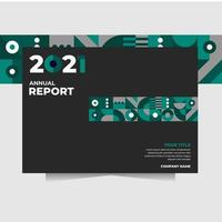 anuual report with greebn abstract shape perfect for cover book, flyer vector