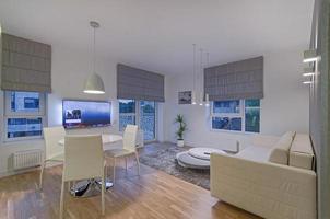 espacio de vida moderno 3d foto