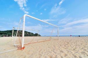 Goal Post on the beach photo