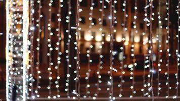 fondo dorado de navidad. telón de fondo brillante. fondo desenfocado foto