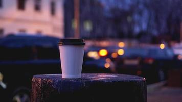 Take away coffee cup empty blank copy space photo