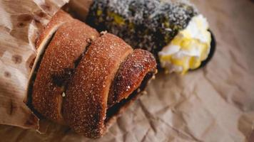 Trdelnik - traditional Czech sweet pastry sold photo
