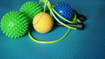 rodillo de bolas de masaje para auto masaje, reflexología foto