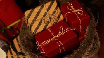Christmas decoration. Happy Holiday. New year gifts photo