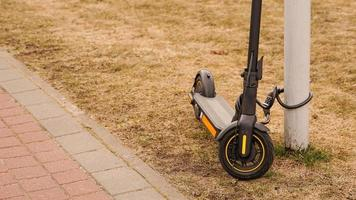 Electric scooter with a combination lock. Anti-theft protection photo