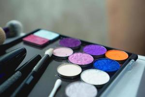 Palette of shadows for makeup photo