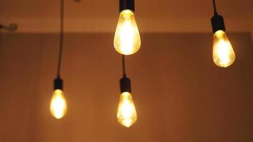 Decorative antique edison style light tungsten bulbs photo