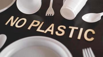 Say No Plastic Cutlery, Plastic Pollution photo