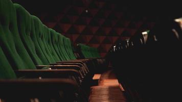 vintage cine teatro películas audiencia asientos retro asientos, verde foto