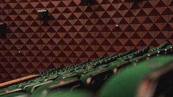 Vintage cinema theater movies audience retro seating seats photo