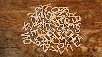 las letras del alfabeto inglés. foto