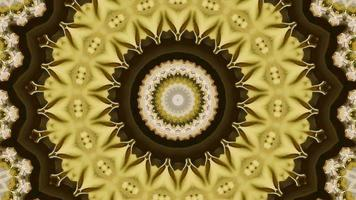 Cream Yellow Gradient Kaleidoscope Background video