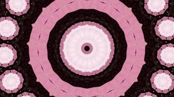 Chocolate Browns with Vibrant Pink Kaleidoscope Background video