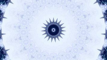 Pale Blue with Blue Details Kaleidoscope Background video