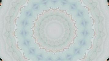 Pale Baby Blue Detail with Soft Snowflake Kaleidoscope Background video