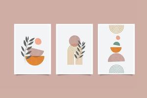 Collection abstract contemporary wall art ,cover etc vector