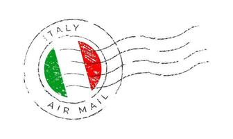 Italy postage mark. National Flag Postage Stamp vector