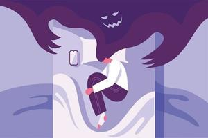 Mental health illustration concept vector