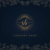Elegant luxury letter SB logo. vector