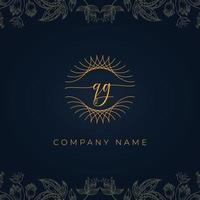Elegant luxury letter QG logo. vector