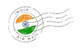 india postage mark. National Flag Postage Stamp vector
