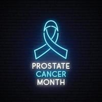 mes de noviembre de concientización sobre el cáncer de próstata vector