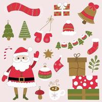 Christmas clipart for new year decor vector