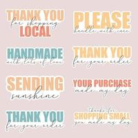 A set of stickers for small businesses vector