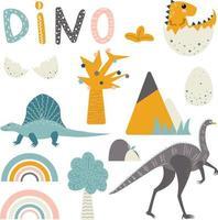 Vector dinosaurs, clipart for boys