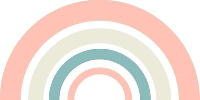 Rainbow pastel colors vector