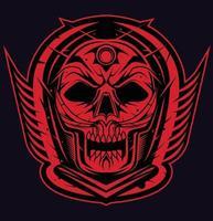 skull samurai dark vector
