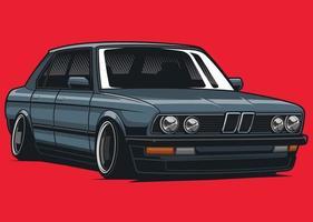 classic car illustration vector