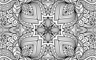 Doodle mandala zen art decorative colouring book page for adults vector