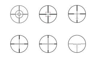 modern sniper rifles crosshair optical sights vector