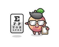 Illustration of pluot fruit mascot as an ophthalmology vector