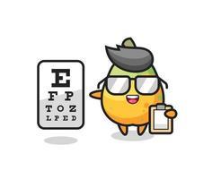 Illustration of papaya mascot as an ophthalmology vector