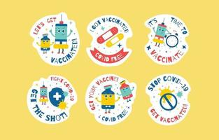 Stickers of Get Vaccinated vector
