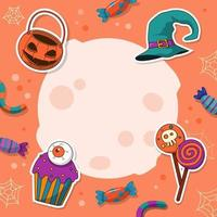 Fun Pastel Trick or Treat Background vector