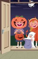 Halloween Trick or Treat vector