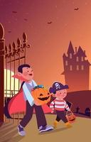 Trick or Treat Halloween vector