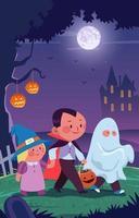 Halloween Trick or Treat Concept vector