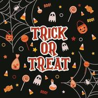 Trick or Treat Background vector