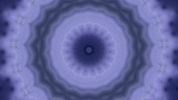 Élément kaléidoscopique anneau de flocon de neige concentrique violet pastel video