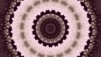 Élément kaléidoscopique anneau texturé rose blanche video