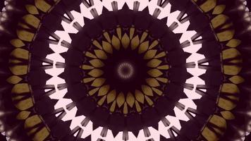 Élément kaléidoscopique à anneaux concentriques rose clair à violet foncé video