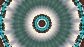 gris froid - anneau vert de mer et élément kaléidoscopique bleu et marron video